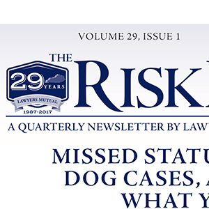 Risk Manager Newsletter
