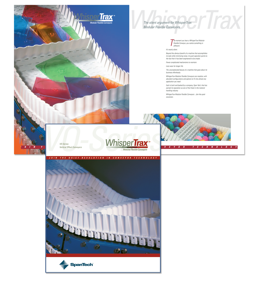 WhisperTrax VO Series Brochure Cover and Spread