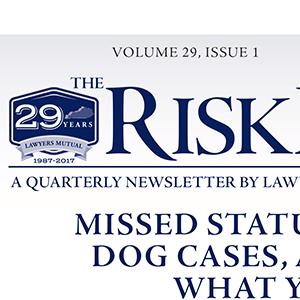 Risk Manager Newsletter